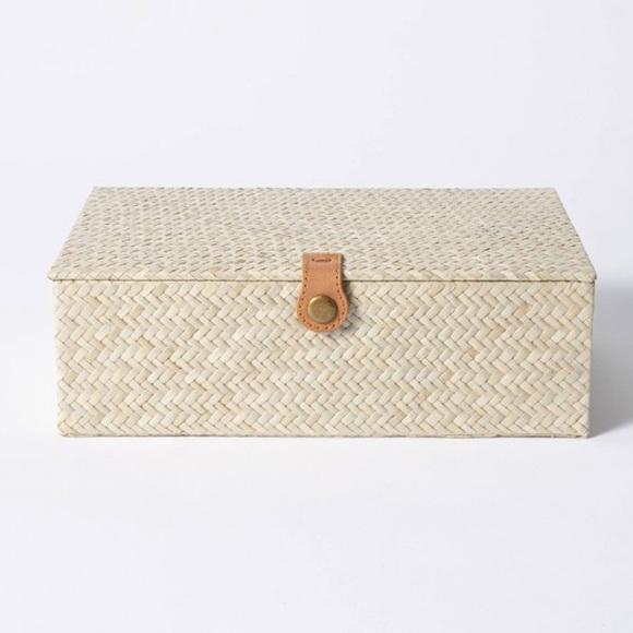 THRESHOLD Studio McGee Pandan Zig Zag Woven Box